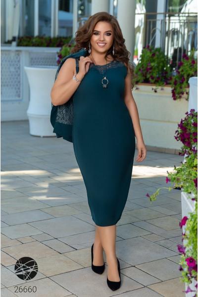 Зелений витончений ефектний комплект для жінок з королівськими формами