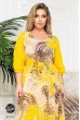 Жовта яскрава шифонова сукня з принтом