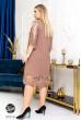 Бежева вишукана сукня з гіпюровими вставками