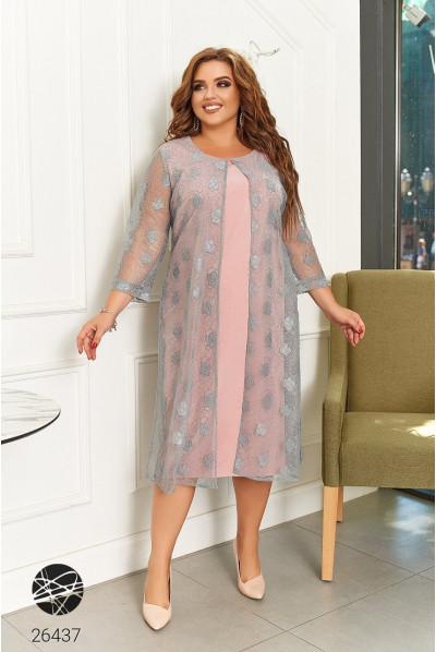 Рожева гламурна легка сукня для чарівної пані