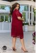 Бордова шикарна лаконічна сукня для жінок з апетитними формами