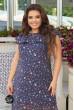 Синя легка шифонова сукня максі з квітковим принтом