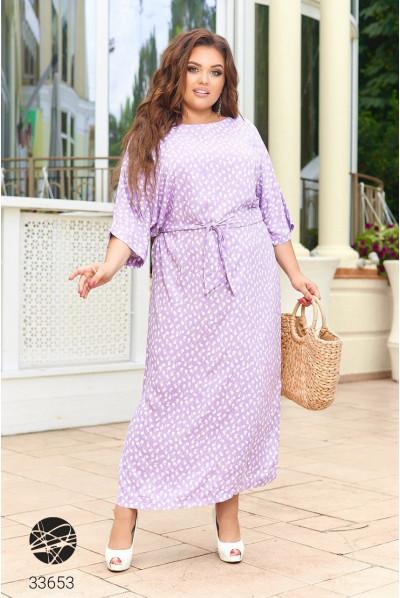 Бузкове літнє плаття максі зі штапеля