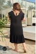 Чорний універсальний жіночий сарафан великмих розмірів