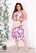 Бузковий чарівний літній сарафан з квітковим принтом