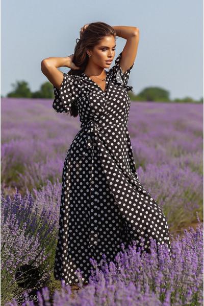 Чорна тарендова сукня міді великих розмірів