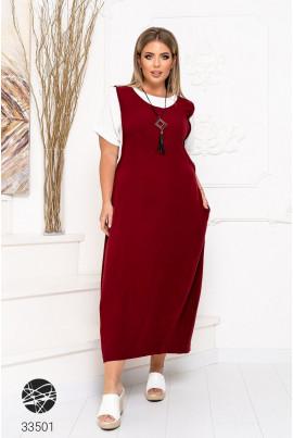 Бордове гламурне повсякденне плаття