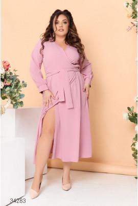 Рожева зачаровуюча ніжна сукня королівських розмірів