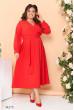 Червона яскрава розкішна сукня великих розмірів