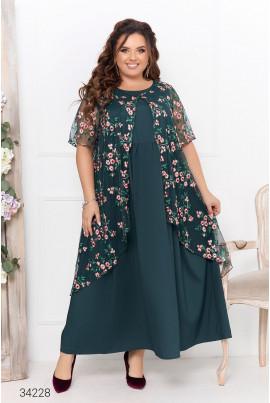 Зелена шикарна романтична сукня максі