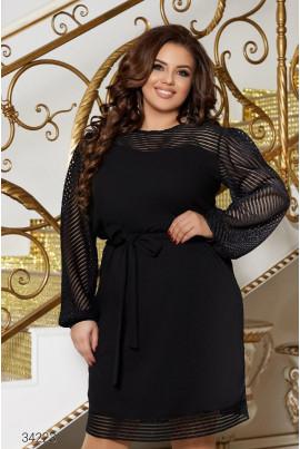 Чорна ошатна жіноча сукня великих розмірів