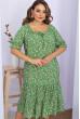 Зелена універсальна квіткова сукня для повних жінок