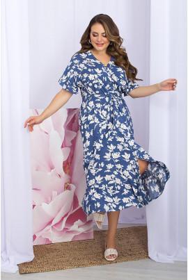 Трендова гламурна сукня джинсового кольору