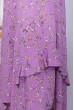 Ліловий вишуканий легкий сарафан з принтом для повних жінок