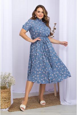 Лаконічне витончене плаття джинсового кольору
