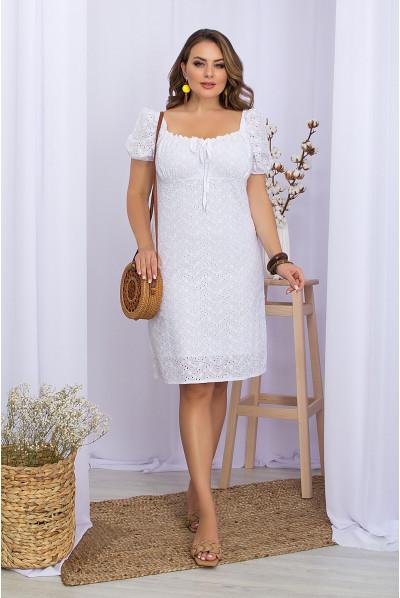 Білосніжна лаконічна сукня  з прошви