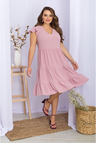 Неймовірно ніжна тендітна сукня кольору пилова троянда