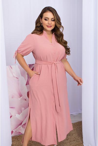 Ніжне романтичне плаття кольору рожевий персик