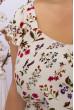 Елегантний квітковий сарафан великих розмірів молочного кольору
