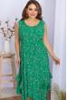 Зелений зачаровуючий сарафан великих розмірів