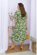 Зелена легка приваблива сукня для повних жінок зі штапеля
