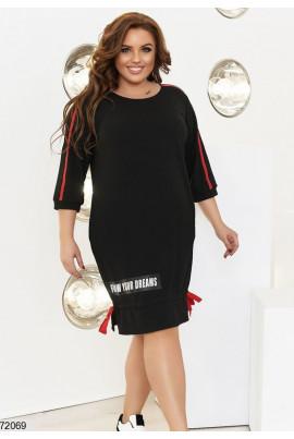 Чорне спортивне плаття для жінок з апетитними формами