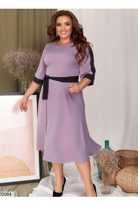 Лілове ніжне плаття великих розмірів