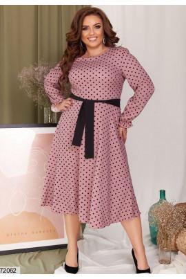 Фрезове жіночне плаття в горох великих розмірів