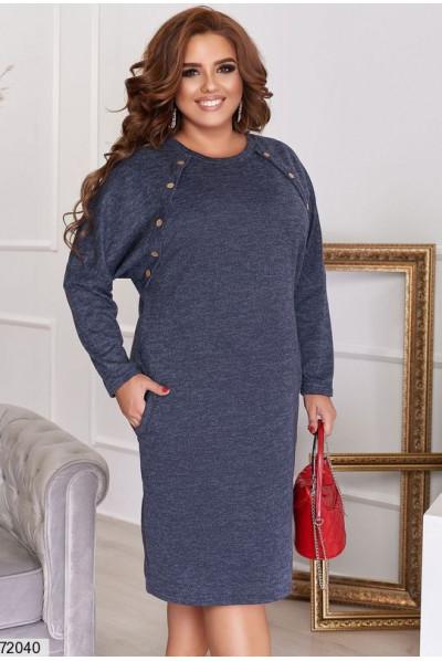 Синє оригінальне плаття для повних жінок