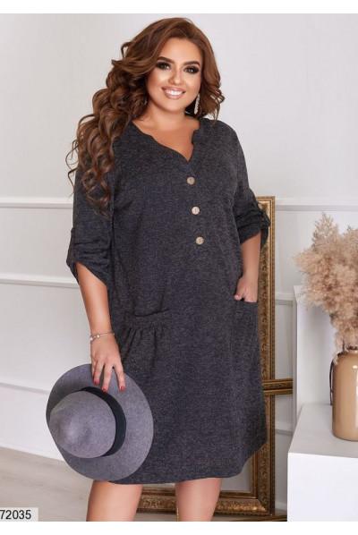 Чорне затишне плаття для жінок з апетитними формами