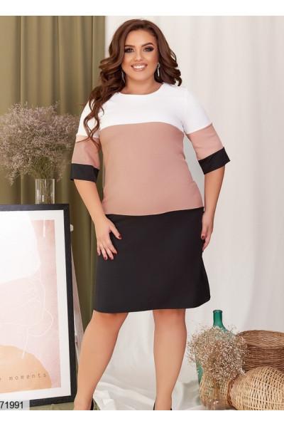 Трикотажне повсякденне плаття великих розмірів