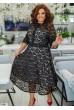 Чорне розкішне плаття міді для жінок з апетитними формами