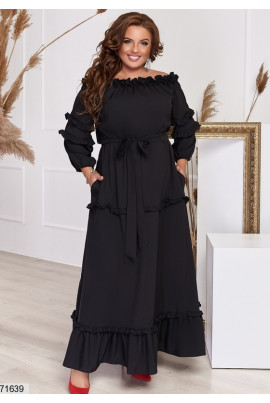Чорне вечірнє плаття великих розмірів