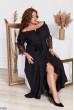 Чорне вечірнє плаття на запах великих розмірів
