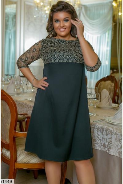 Чорне ошатне плаття великих розмірів