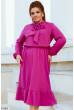 Стильне плаття кольору фуксія для повних жінок