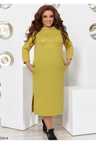 Оливкове стильне спортивне плаття для повних жінок
