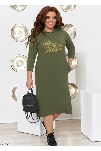 Стильне спортивне плаття кольору хакі