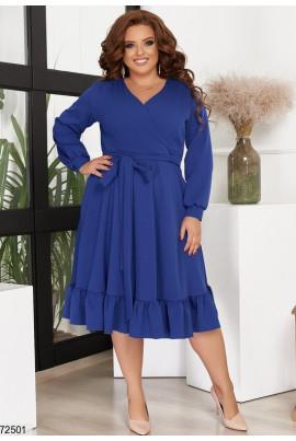 Ошатне стильне плаття кольору електрик