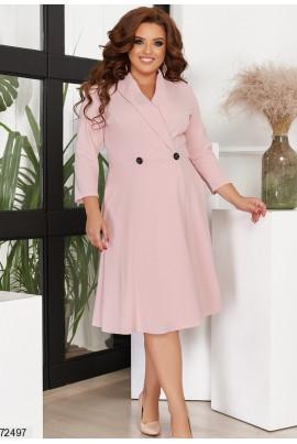Пудрове універсальне ошатне плаття великих розмірів