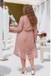 Шифонове бежеве плаття з паском