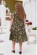 Розкішна легка сукня міді кольору хакі