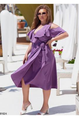 Лавандова шикарна сукня для жінок з королівськими формами
