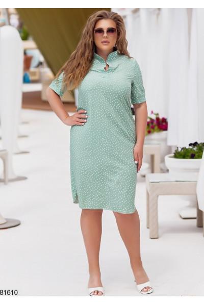 Оливкове повсякденне комфортне плаття міді