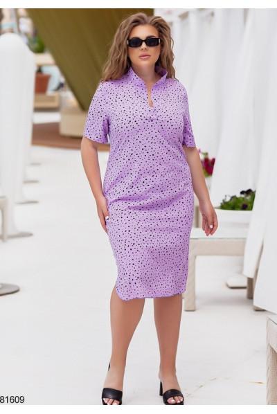 Лавандове зачаровуюче легке плаття для жінок з апетитними формами