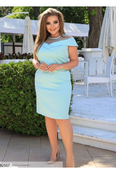 Блакитне елегантне плаття футляр