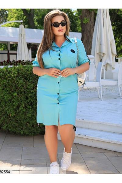 Блакитне плаття сорочка зі штапелю