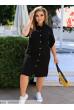 Чорне плаття сорочка зі штапелю