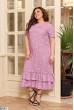 Ніжне бузкове штапельне плаття