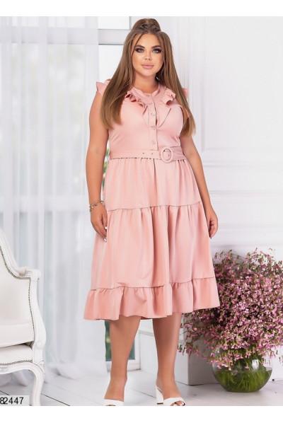 Ярусне літнє плаття персикового кольору